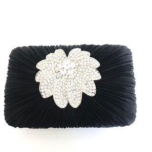 Handbags - Brand New Evening Mini Satin crystal clutch purse